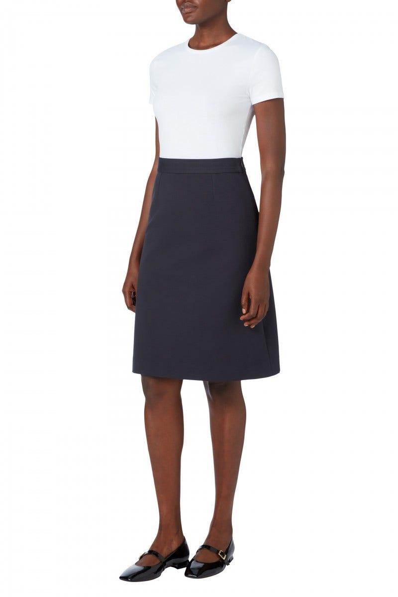 Lear Jersey Skirt Graphite
