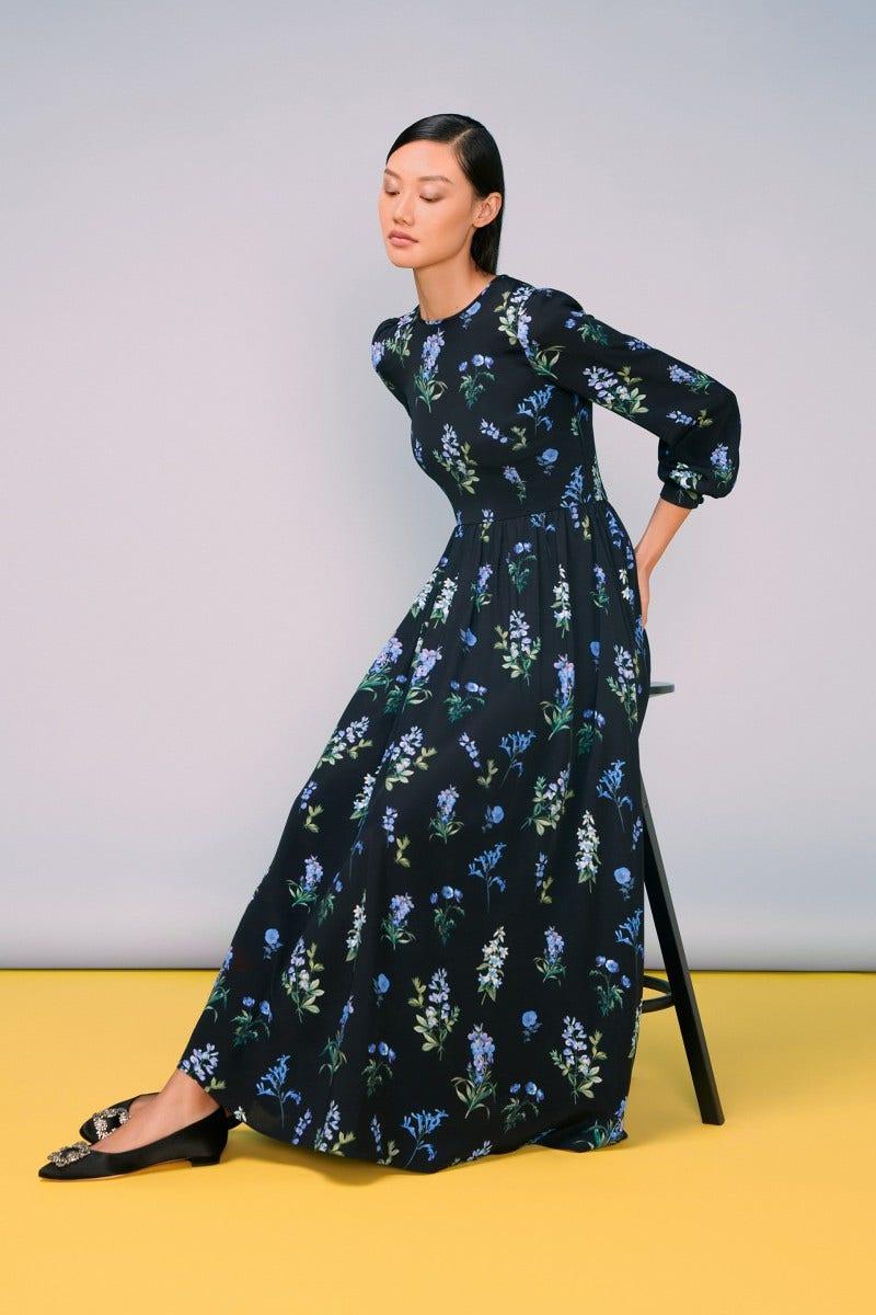 Liberty Maxi Dress Blue Meadow