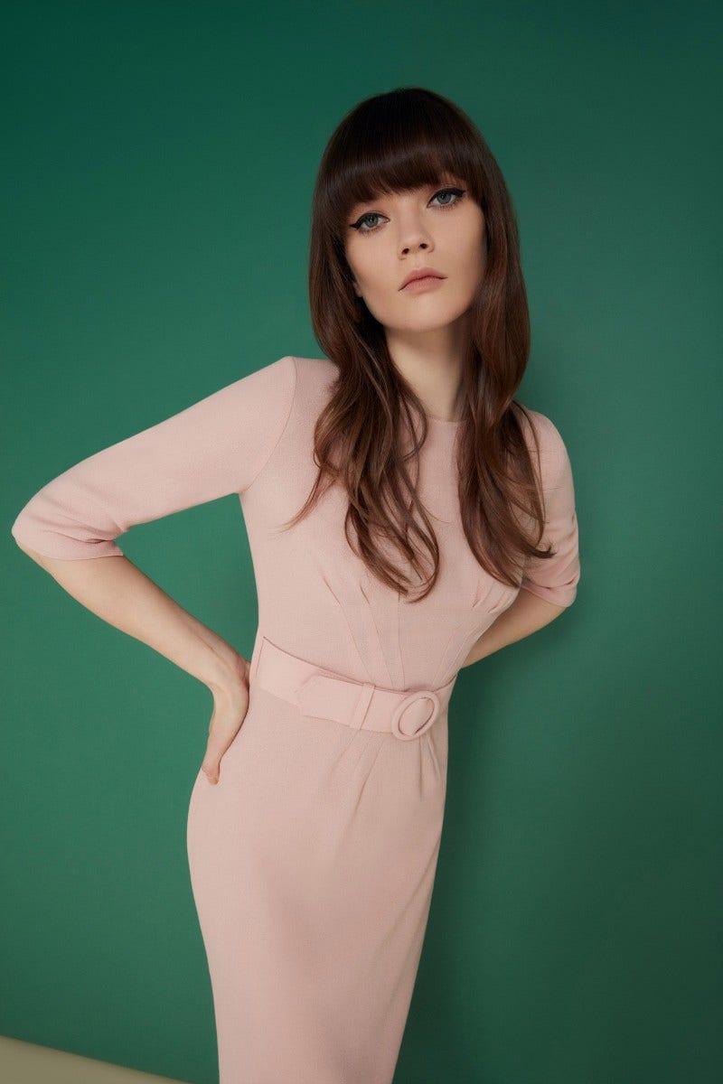 Madison Dress Tea Rose