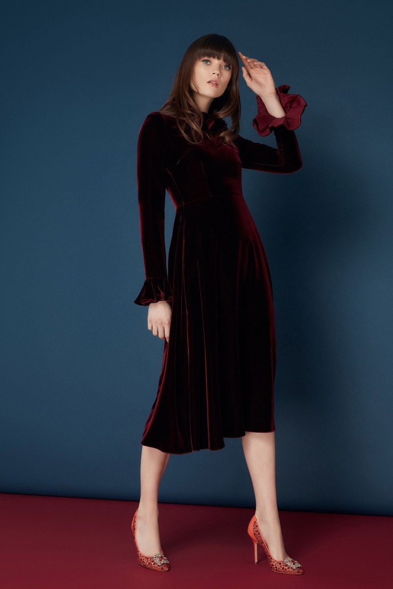Margerie Dress Burgundy