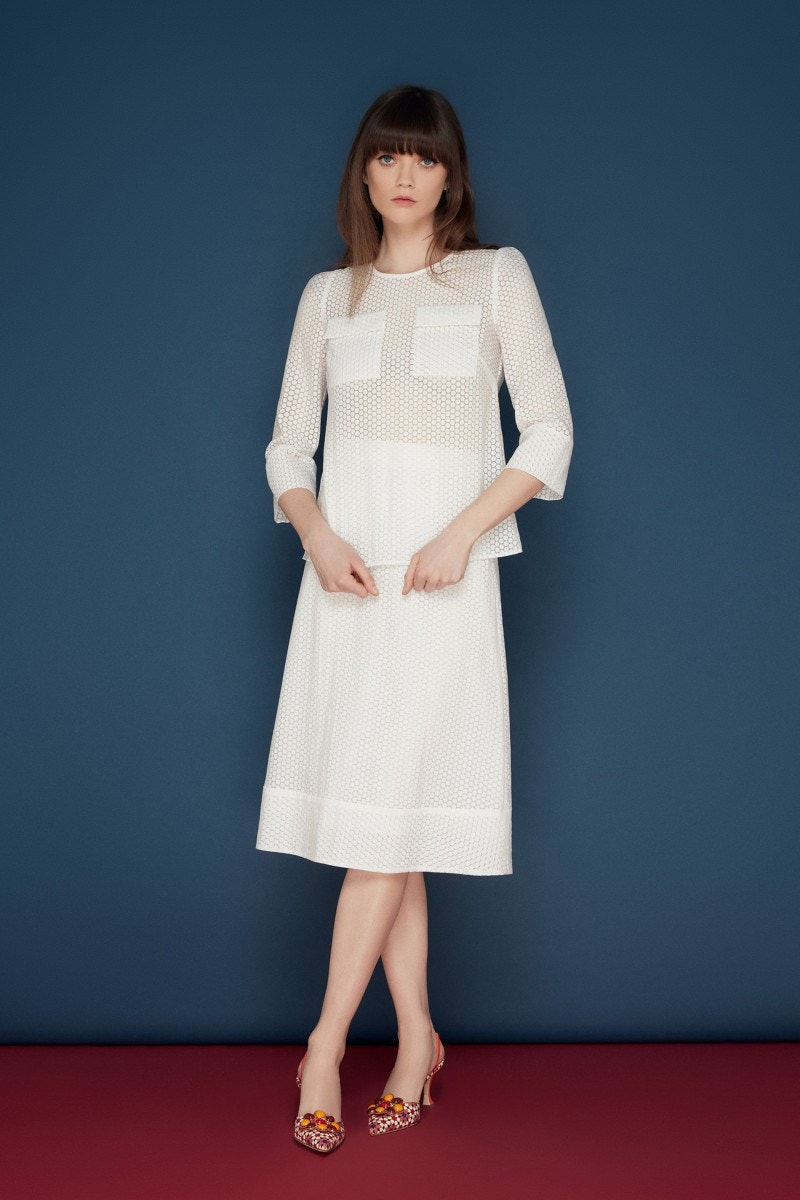 Millie Skirt White Spot