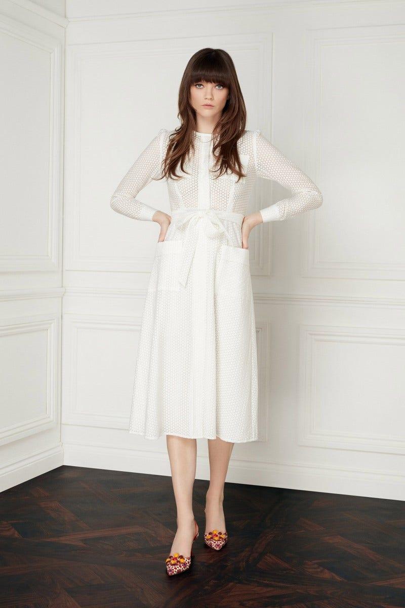 Mayflower Dress White Spot