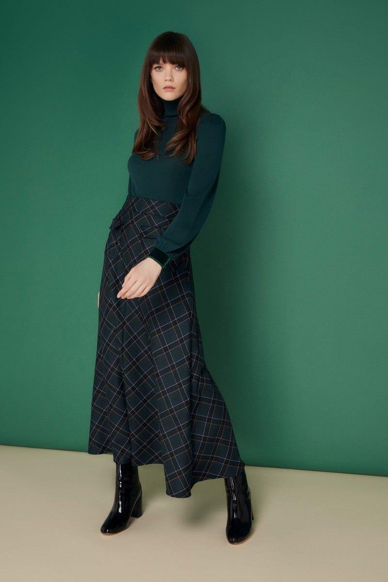 Makenna Skirt Navy Tartan