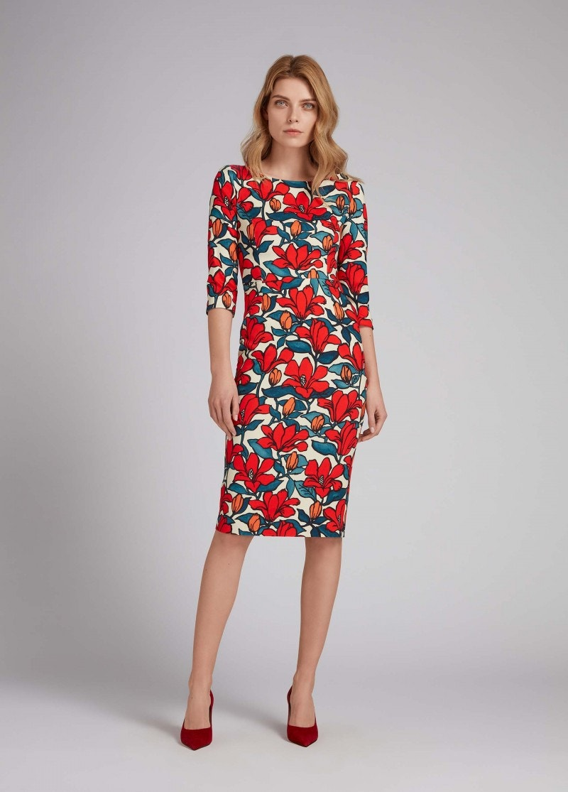 Venus Dress Red Hibiscus