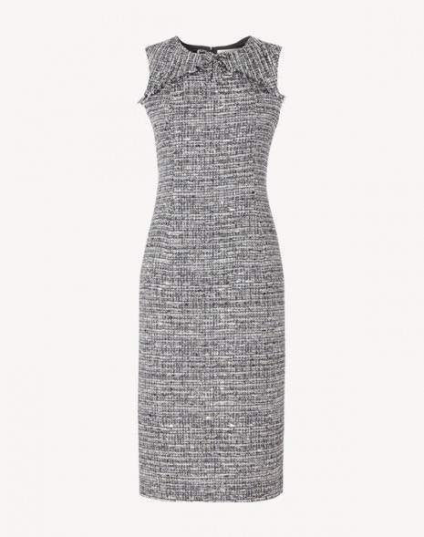 Jessica Dress Navy Tweed