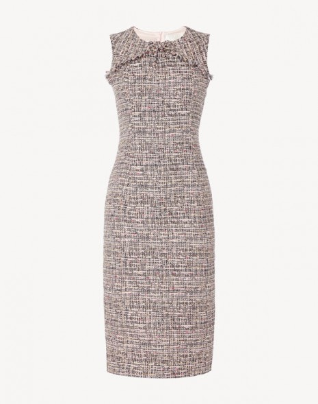 Jessica Dress Pink Tweed