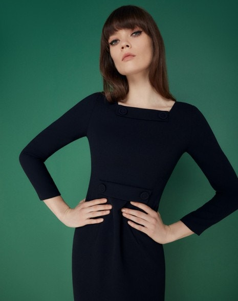 Maxine Dress Dark Navy