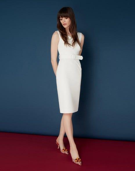 Monroe Dress White