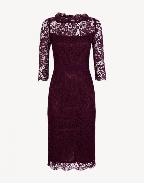 Venus Dress Damson Lace
