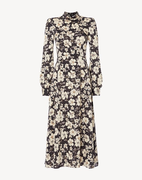 Goldfinch Dress Black Camelia
