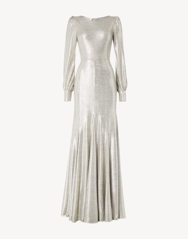 Illusion Gown Silver