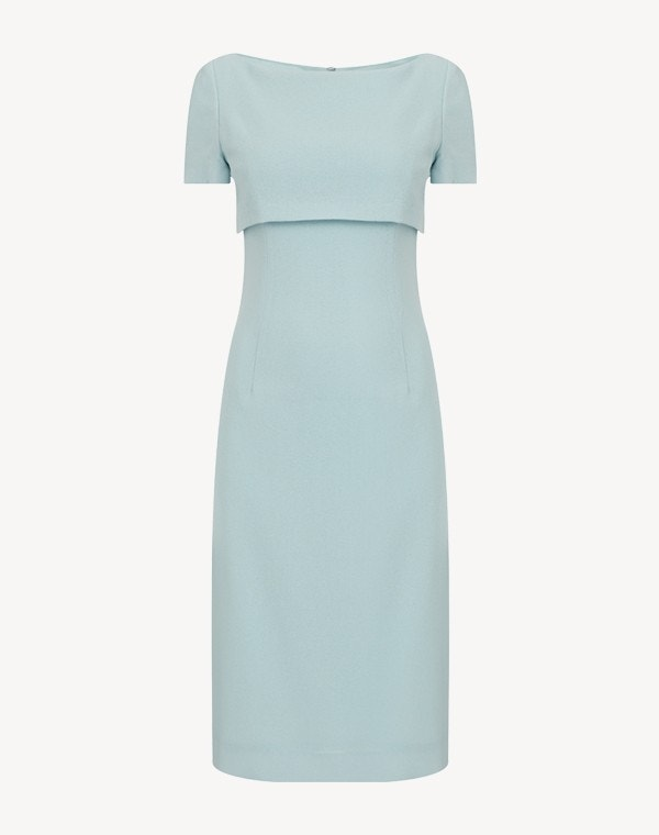 Jacqueline Cape Dress Frost Blue