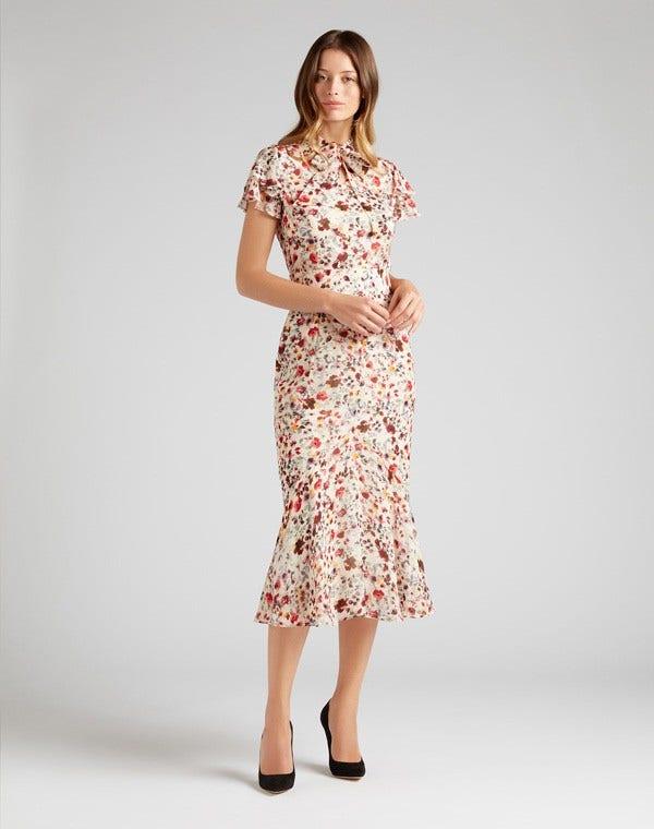 Kalista Dress Pink Wildflower