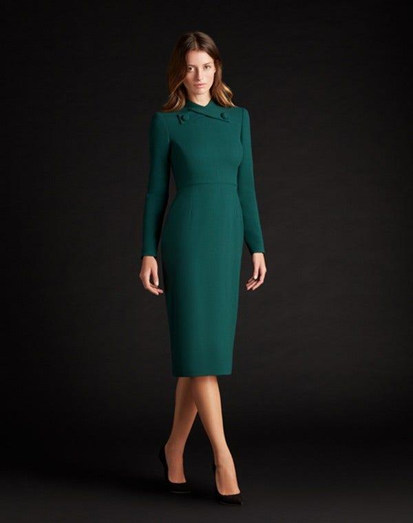 Katty Dress Dark Emerald