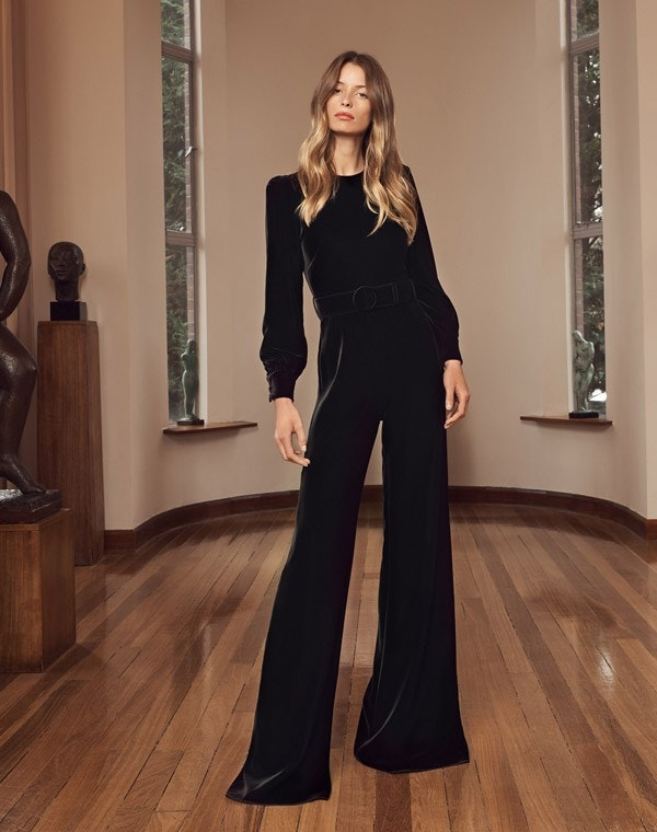 King Velvet Jumpsuit Black
