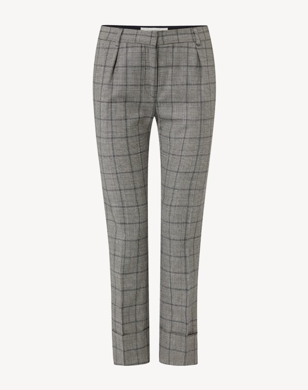 Kooper Check Trousers Light Grey