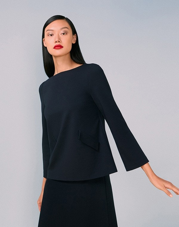 Lark Jersey Top Dark Navy