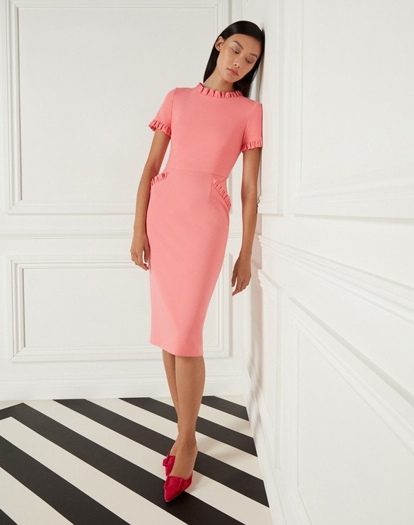 Lucille Jersey Dress Coral