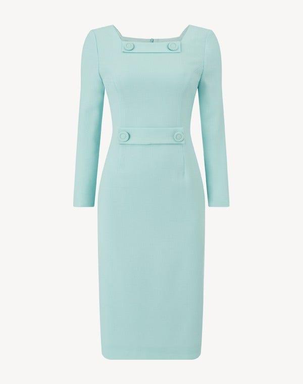 Maxine Dress Aqua