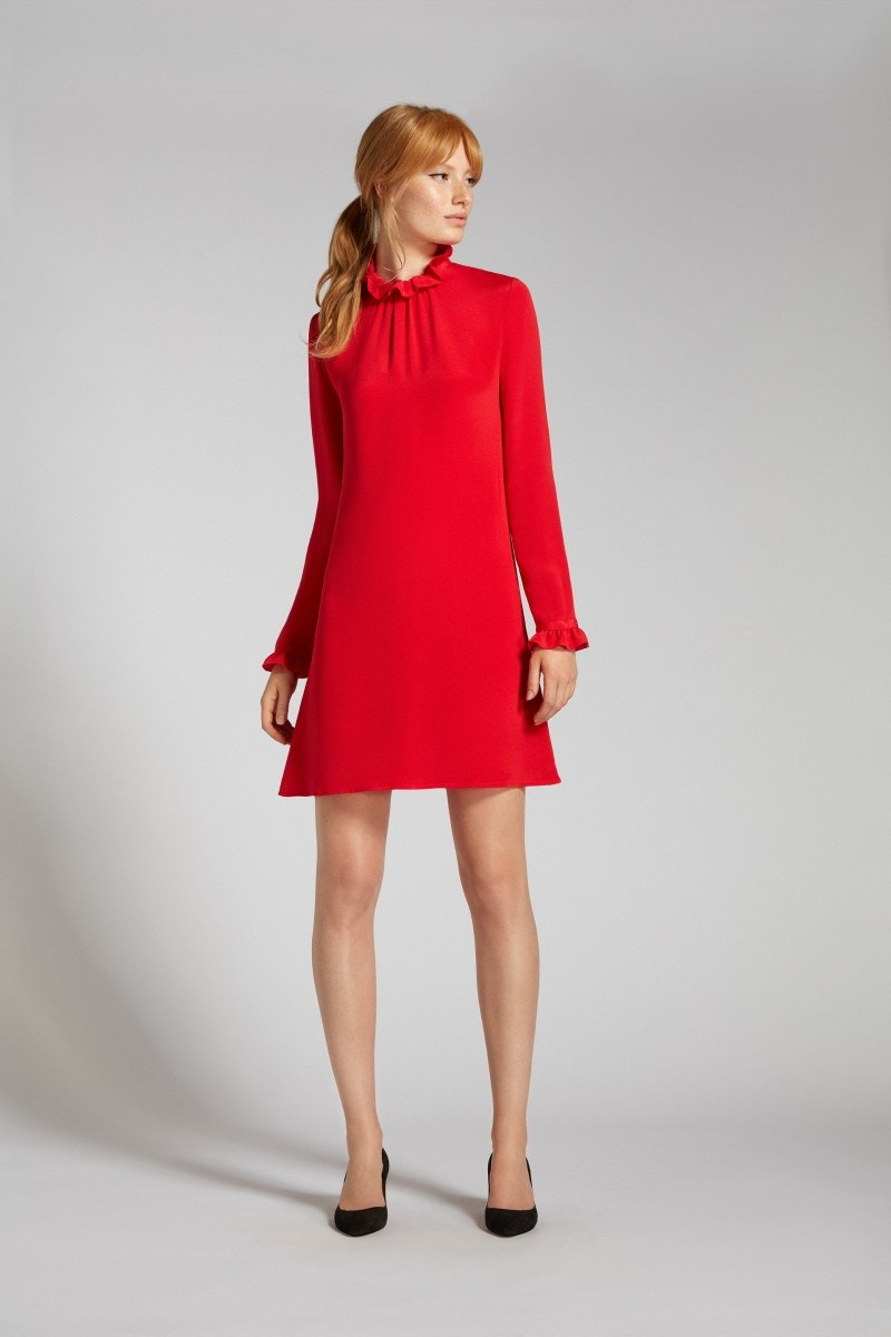 Hibiscus Dress Red