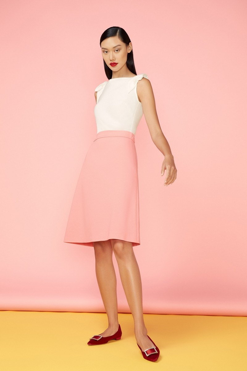 Lear Jersey Skirt Coral